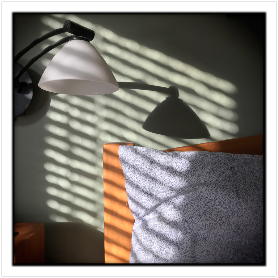 light thru venetian blinds   ~ in the Adirondack PARK (embiggenable) • iPhone