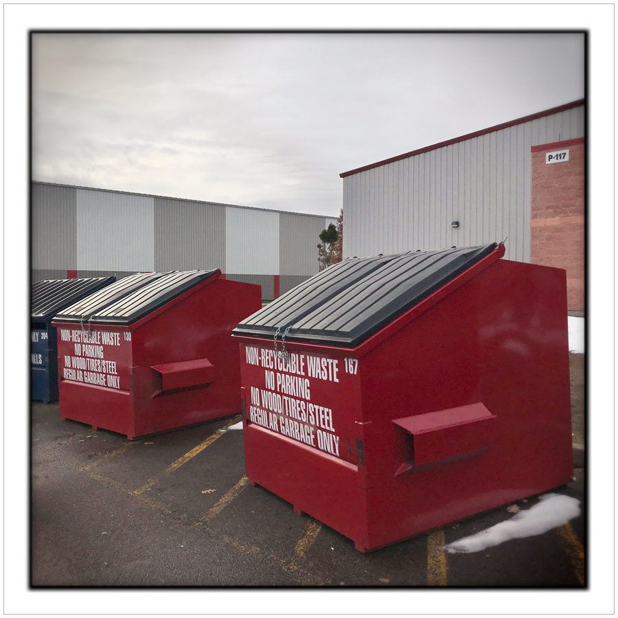 refuse bins   ~ Petawawa, ON. (embiggenable) • iPhone