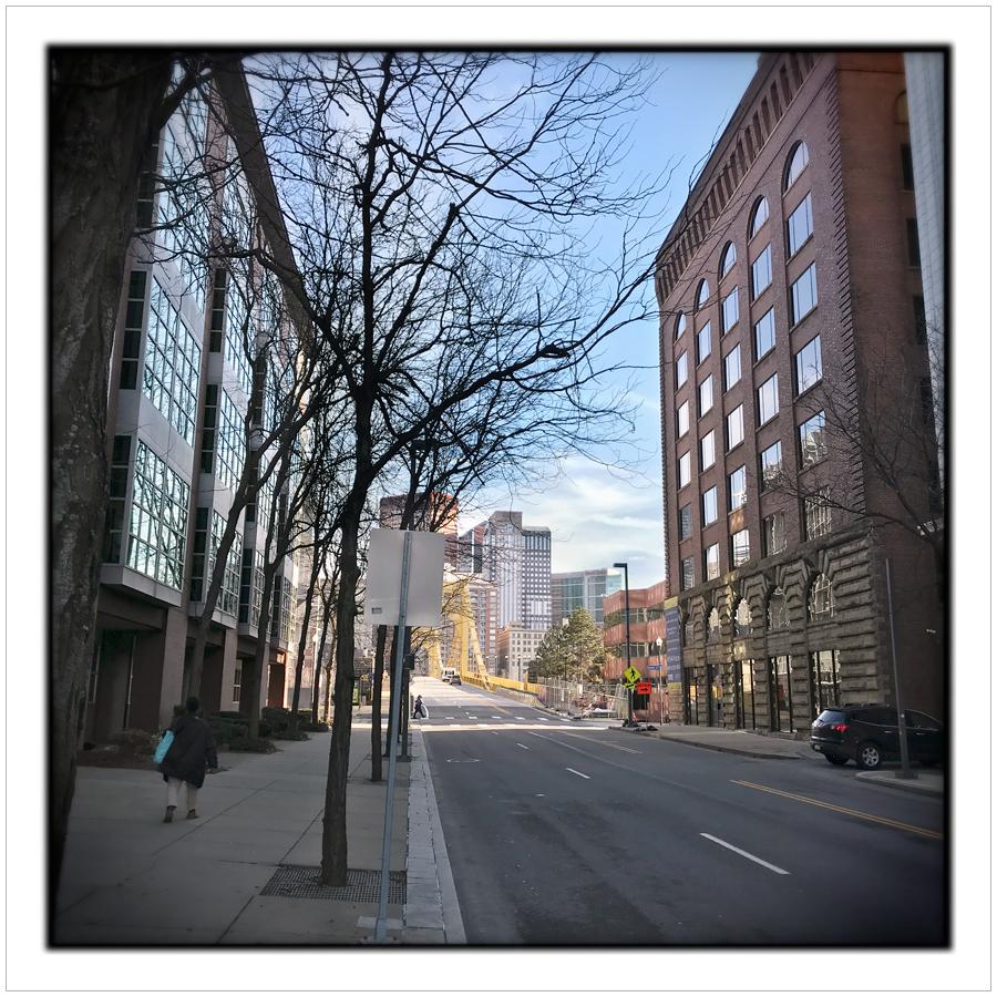 7th Street bridge  ~ Pittsburgh, PA (embiggenable) • iPhone