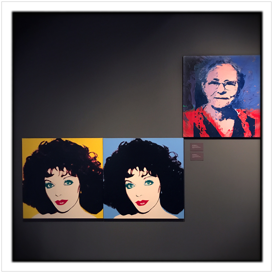 Joan Collins and Andy's mom   ~ Warhol Museum / Pittsburgh, PA (embiggenable) • iPhone