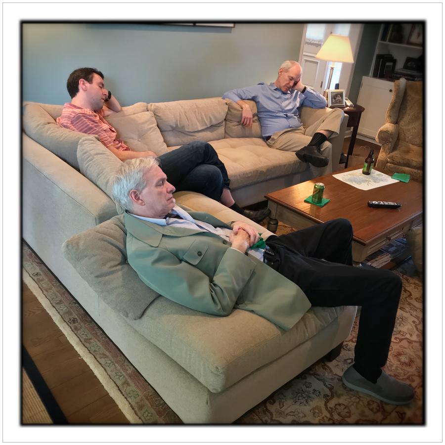 napping dads   ~ Harrington Park (embiggenable) • iPhone