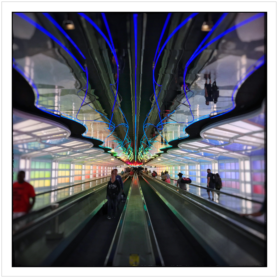 moving walkway   ~ O'Hare Intl. Airport Chicago, Ill. • (embiggenable) • iPhone