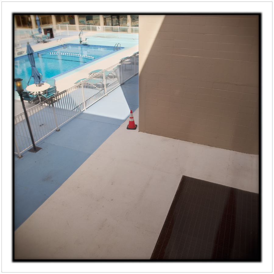 pool from hotel room window   ~ Rochester, NY - (embiggenable) • µ4/3