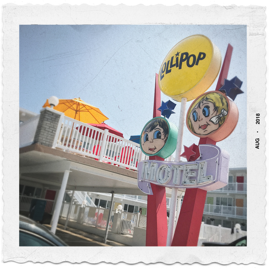 Lollipop Motel   v. The New Snapshot ~ Wildwood, SouthJersey Shore (embiggenable) • iPhone