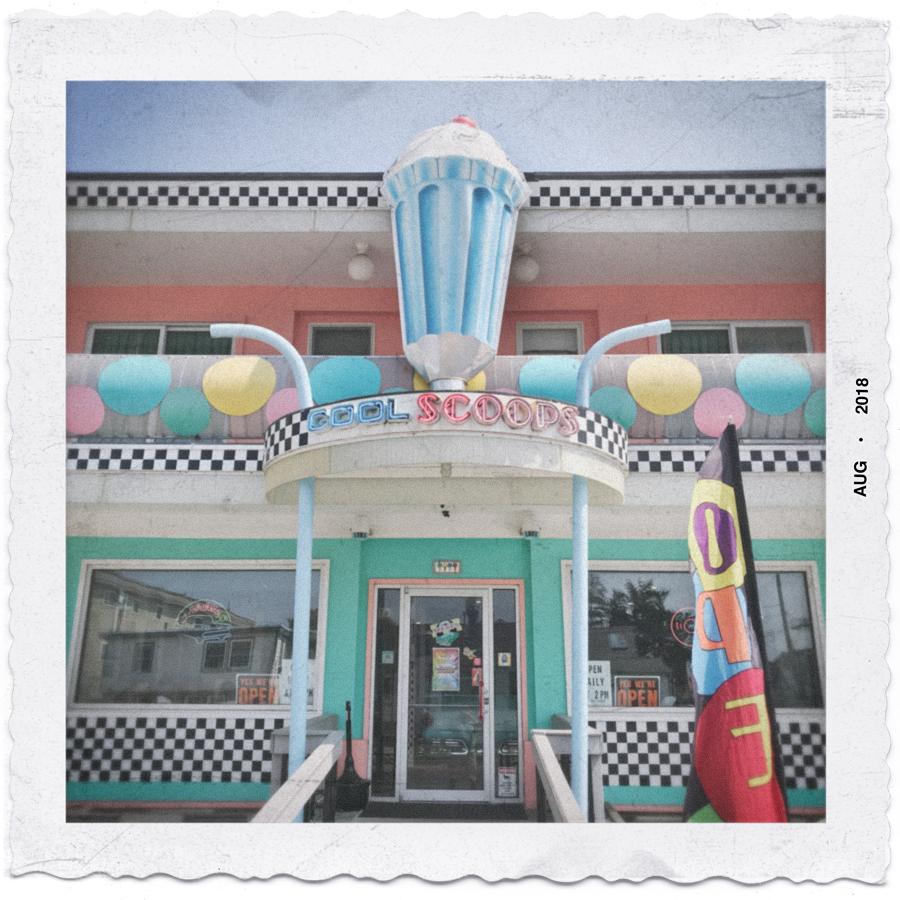 COOL SCOOPS   /   v. the new snapshot   ~ Wildwood, South Jersey Shore (embiggenable) • iPhone
