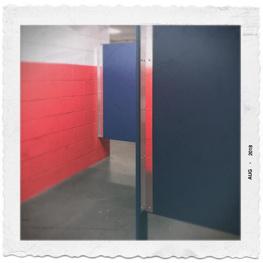hockey rink bathroom   (v. the new snapshot) ~ Canton, MA. (embiggenable) • iPhone