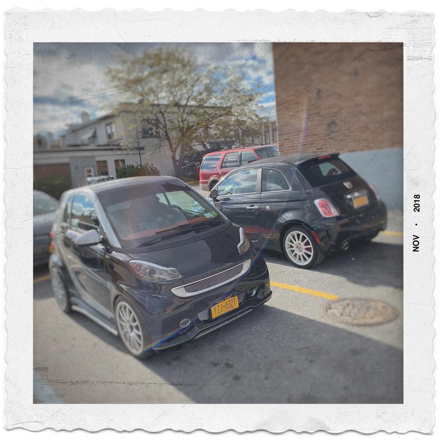 Smart Car   (l) /   my topolino   (r) ~ (embiggenable) • iPhone