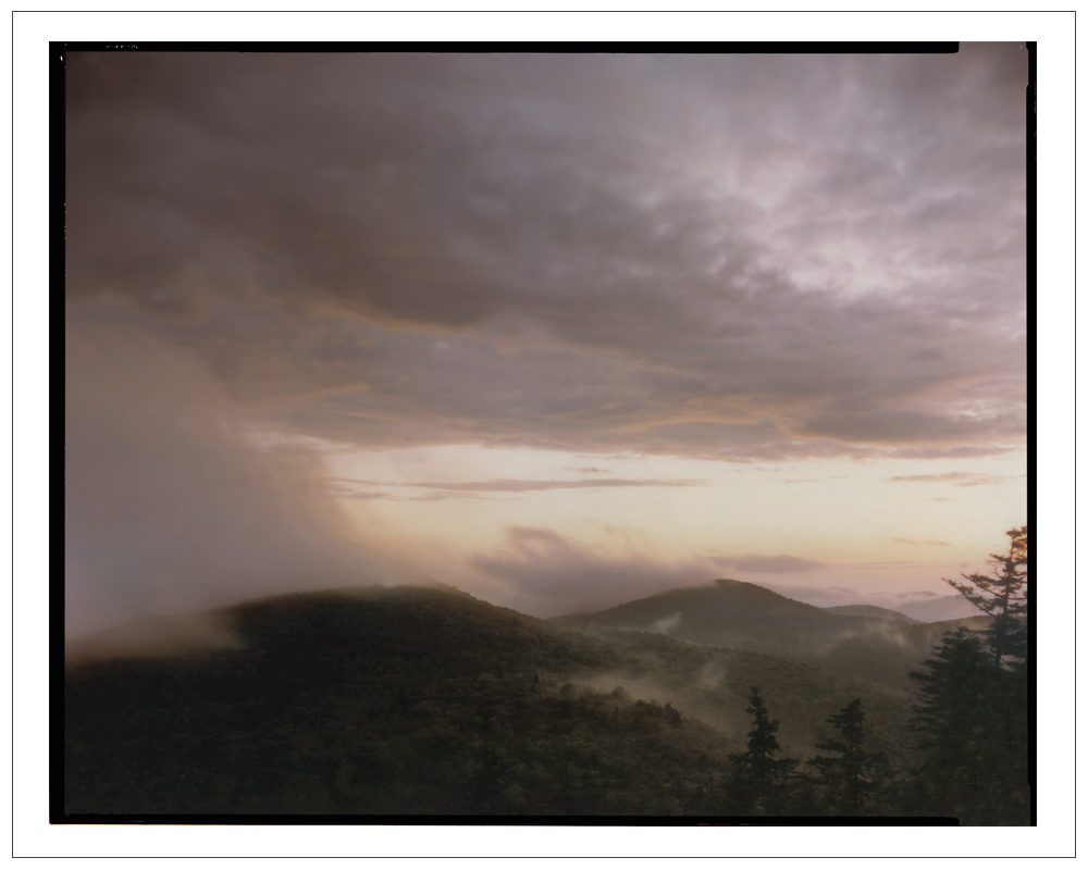 Sunset from Castle Rock   ~ Blue Mt. Lake, NY -(embiggenable) • 8x10 Arca Swiss view camera