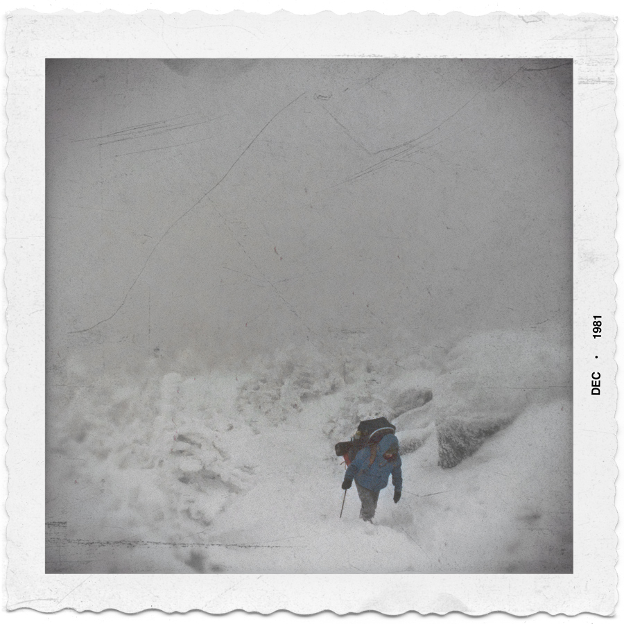near the top of the 2nd highest Adirondack peak in a blizzard   ~ (embiggenable) • iPhone