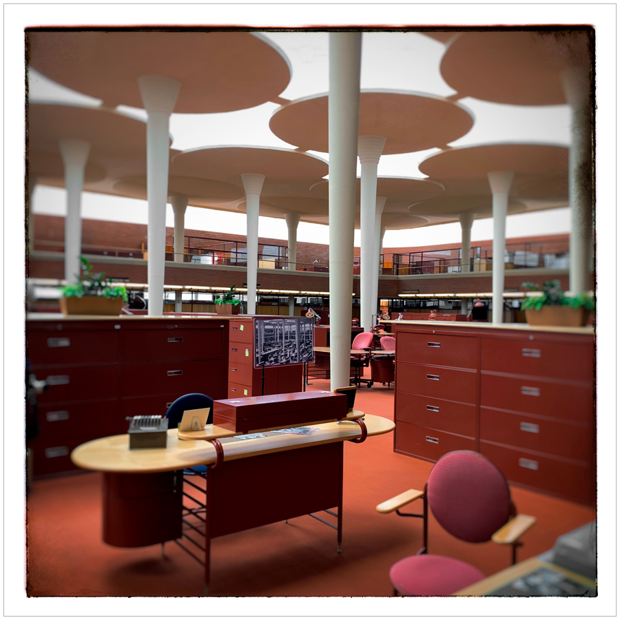 Johnson Wax bldg   ~ Racine, Wisconsin (embiggenable) * iPhone