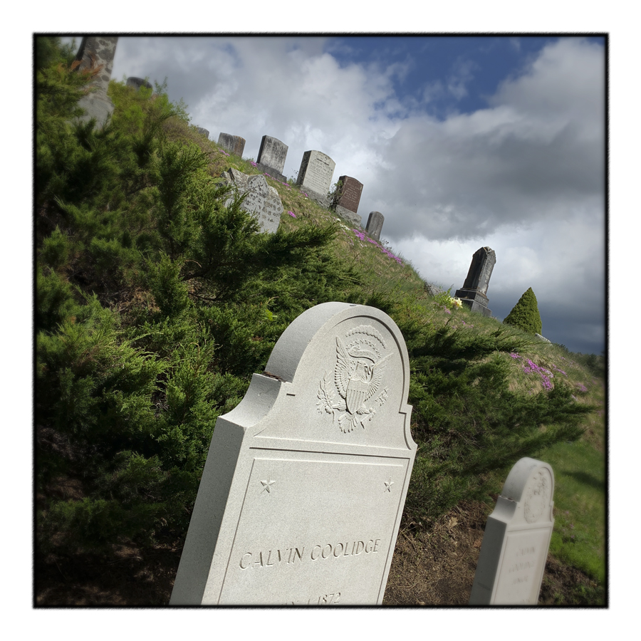 President's tombstone ~ Plymouth Notch, Vt. (embiggenable) • iPhone