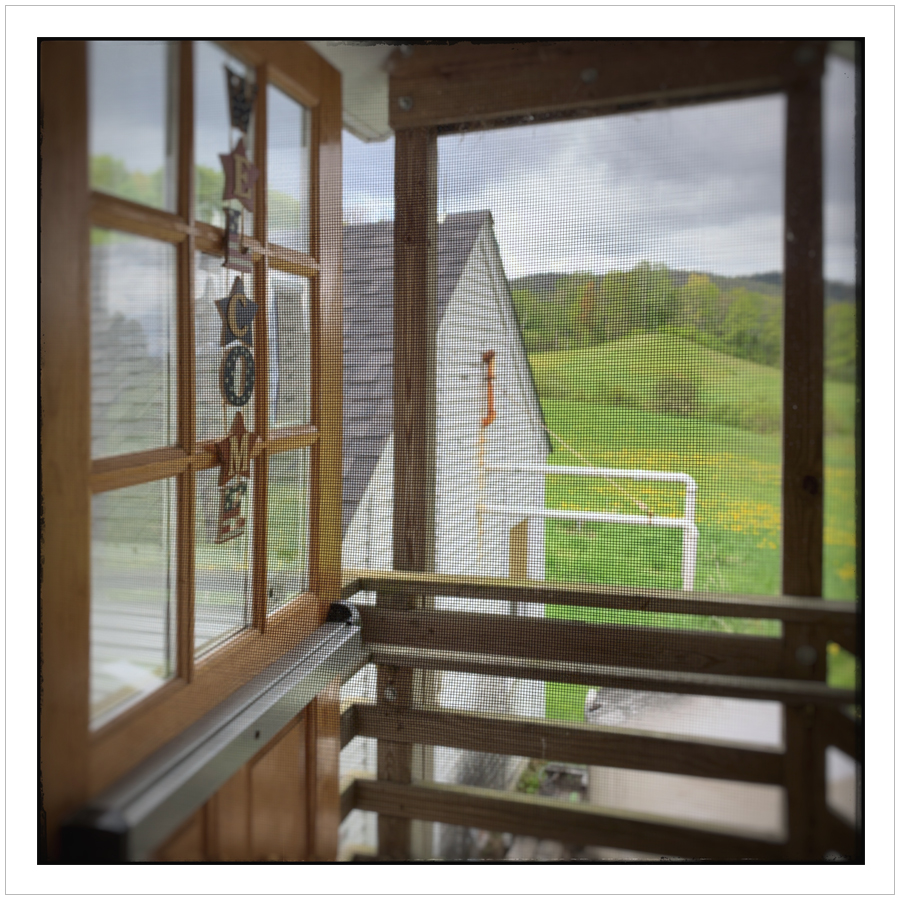 Plymouth Cheese screen door ~ Plymouth Notch, Vt. (embiggenable) • iPhone