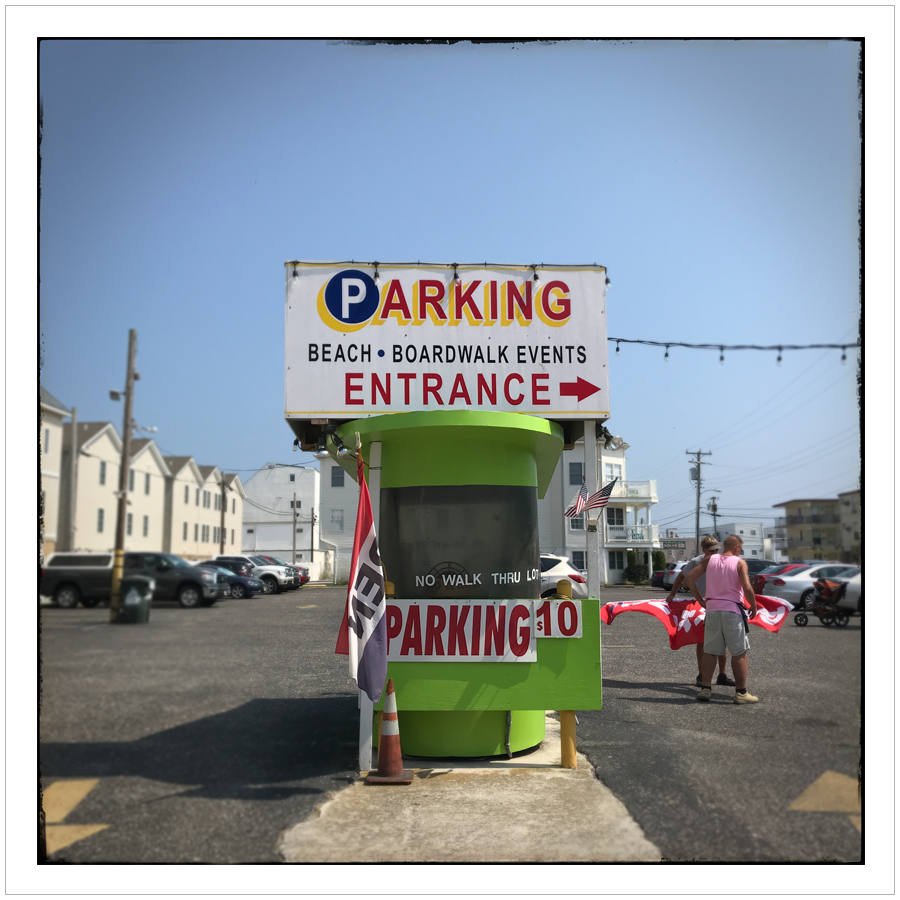 parking lot booth   ~ WIldwood, NJ (embiggenable) • iPhone