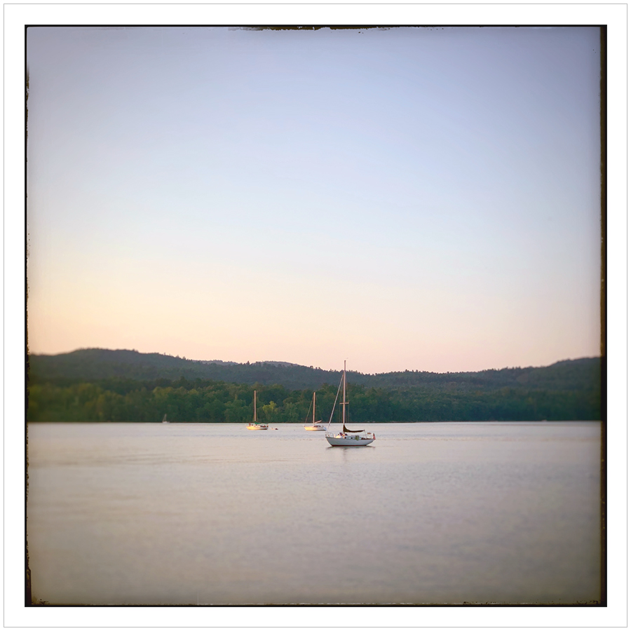 sailboats on Lake Champlain   ~ (embiggenable) • iPhone