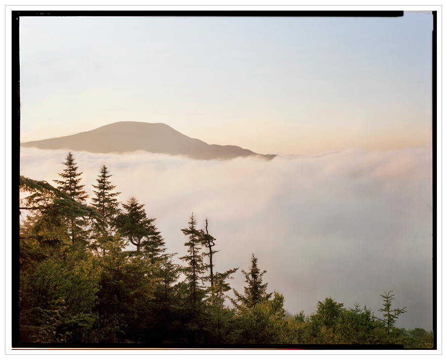 Blue Mountain and fog at sunrise   ~ (embiggenable) • 8x10 Arca Swiss view camera w color negative film
