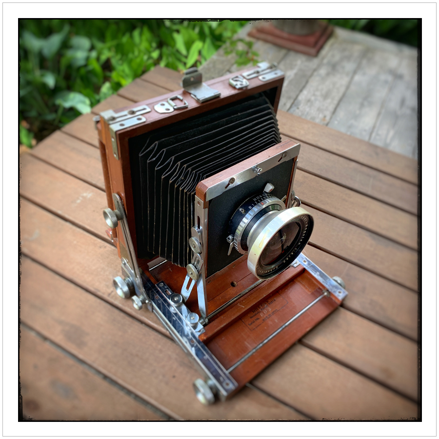 Nagaoka 4x5 view camera with 90mm Schneider Super-Angulon lens