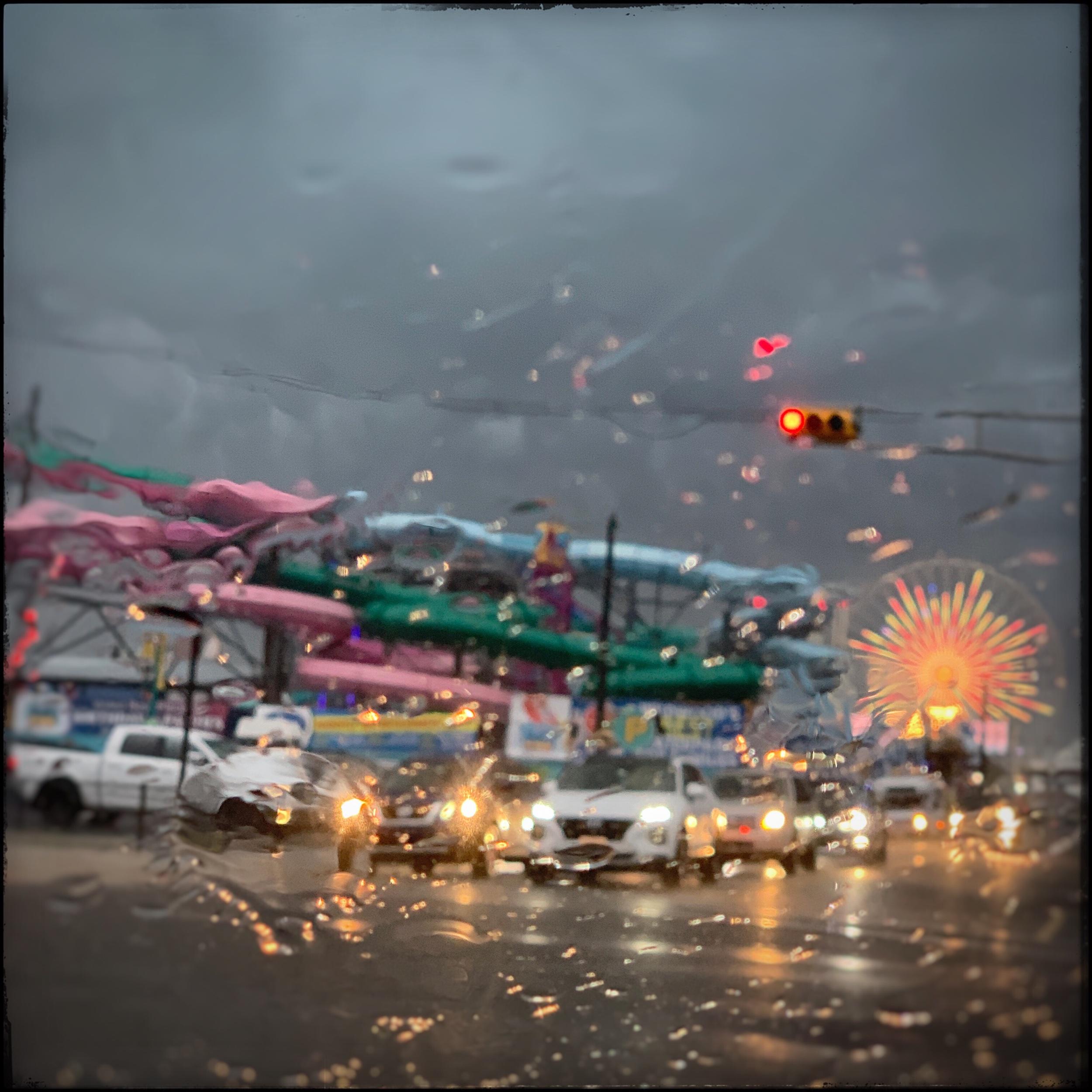 Rain on windshield   ~ Wildwood, NJ (embiggenable) • iPhone