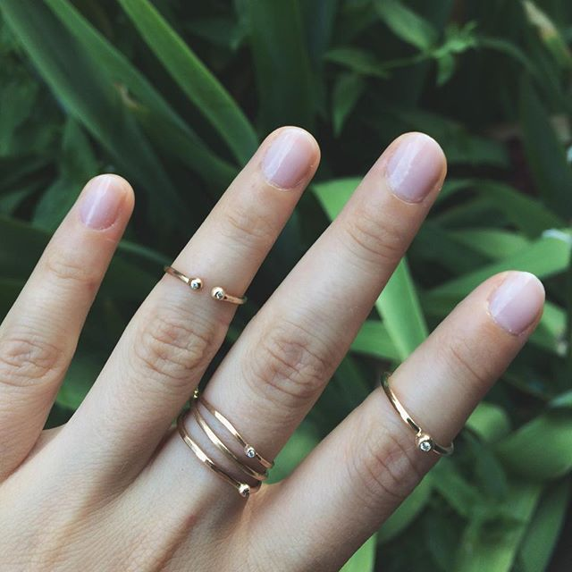 Gold & diamond rings. Perfect for stacking, pretty on their own 💎