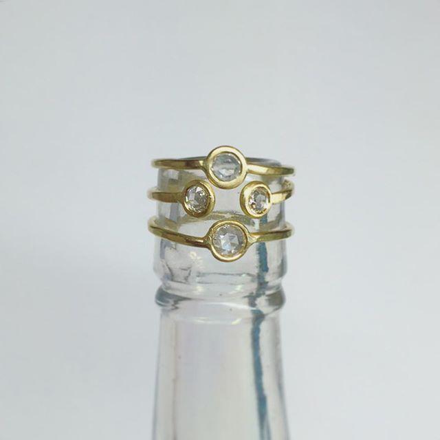 More rose-cut diamond rings! 🌹💎
