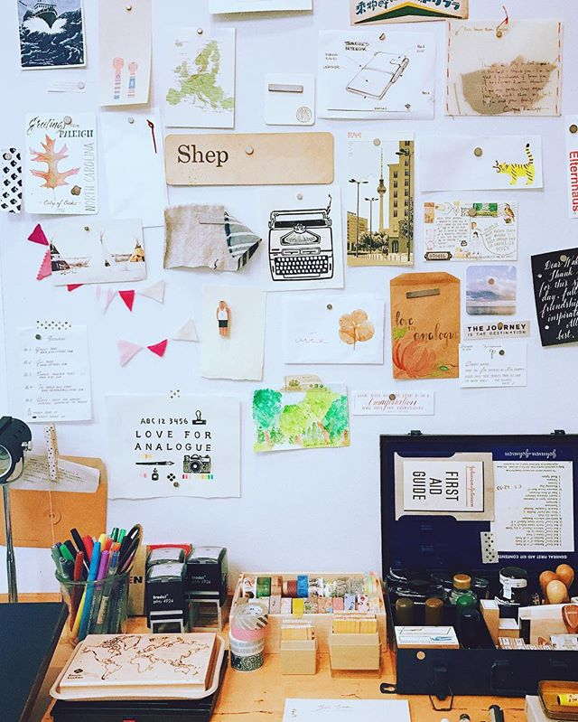 Creative wall at Baum-kuchen studio. Baum-kuchen工作室的采访视频会尽快上线,敬请期待。 #baumkuchen #journal #keeptraveling  Photo credit by Junjun Shi.