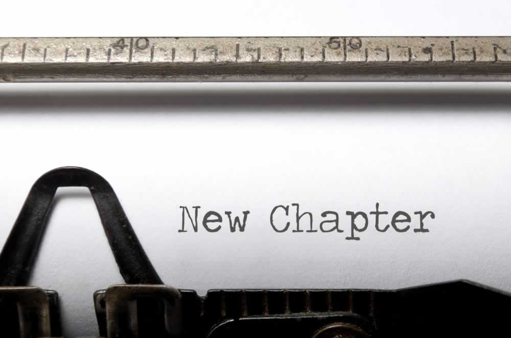 "typewriter typing ""New Chapter"""