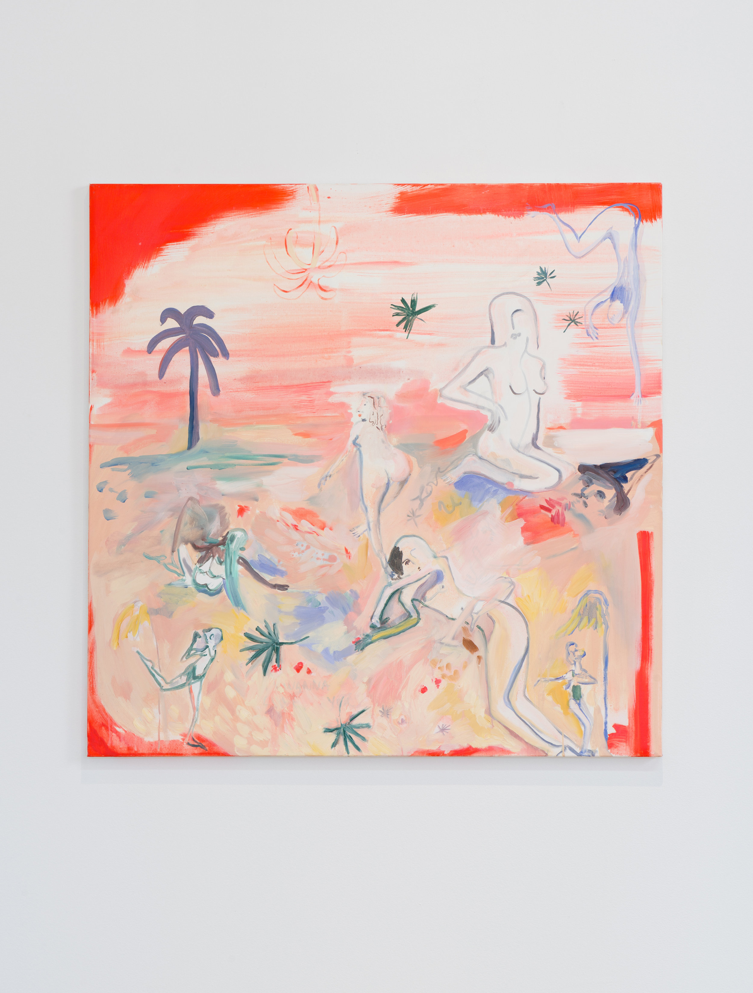 Kira Shewfelt    Tropicalia (playing dead)   2016 Oil on canvas 36 x 36 inches