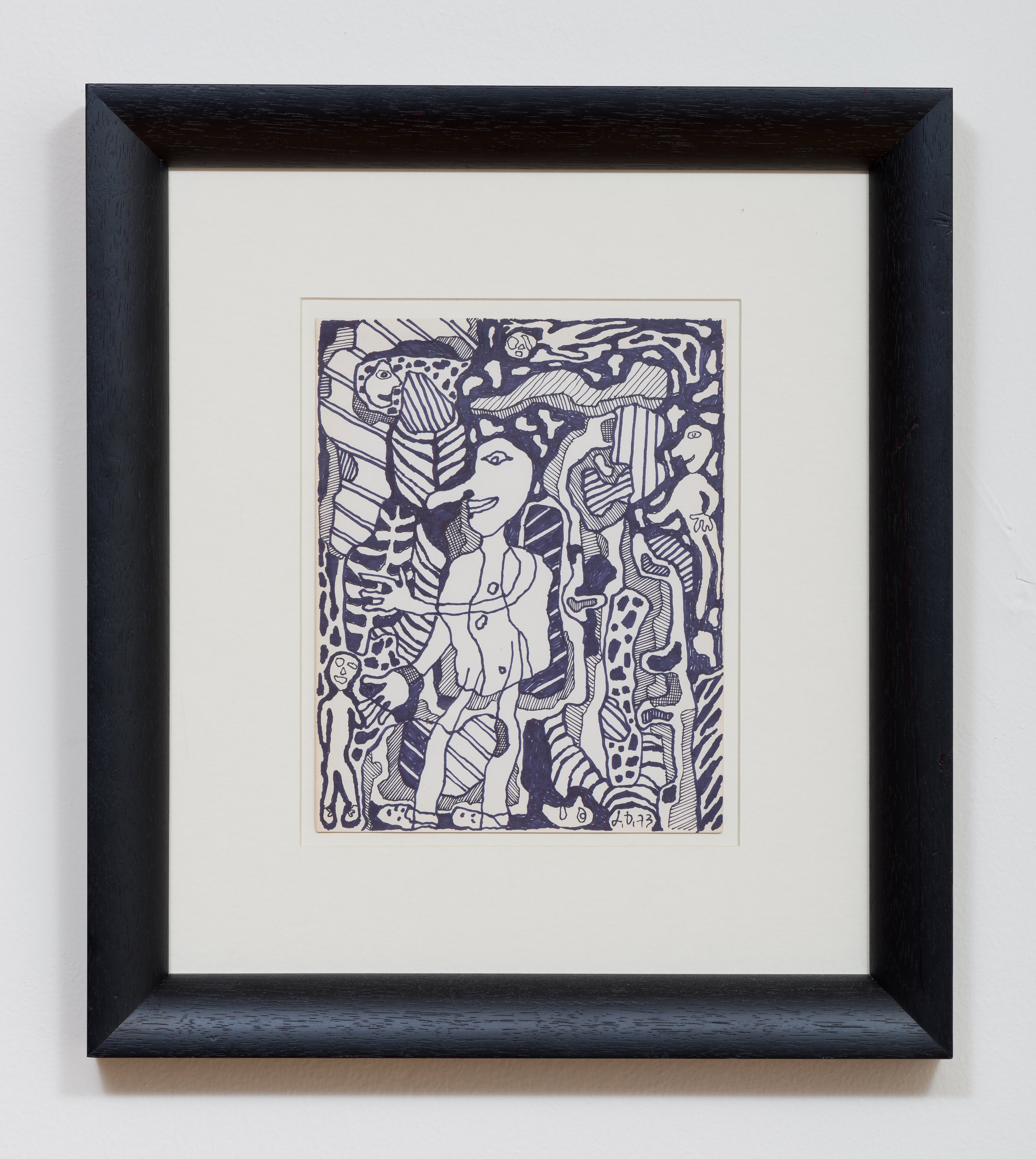 Jean Dubuffet    Untitled   1973 Ink on paper 9.75 x 7.75 inches paper, 18.25 x 16.25 inches framed