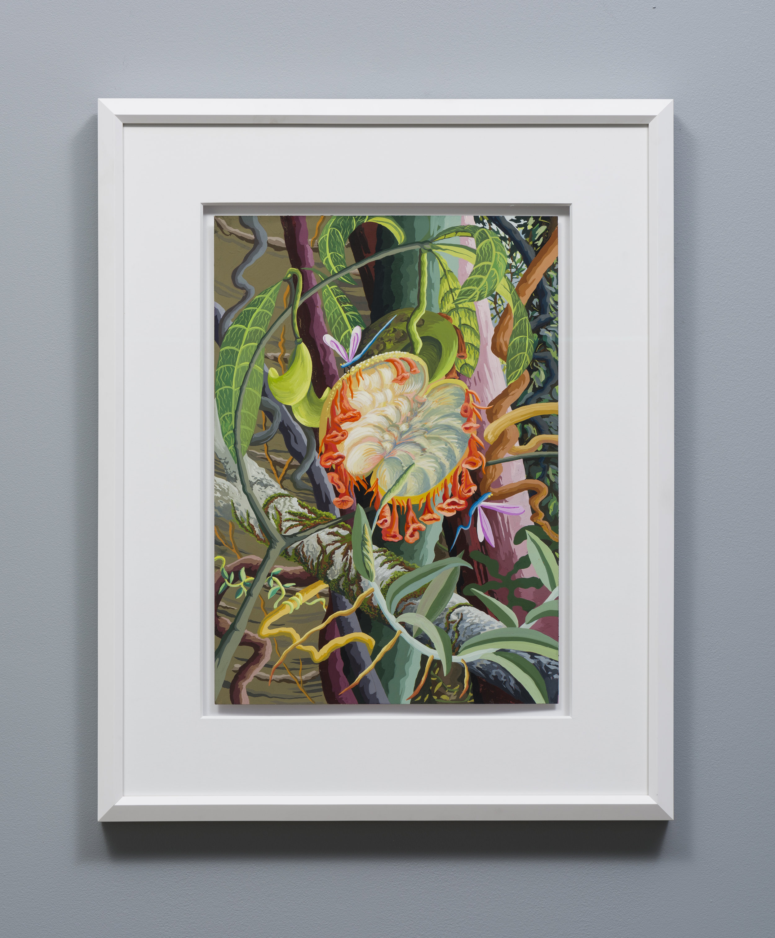 Suzan Pitt  Blooming Fruit   1992-1993 Gouache on paper 20 x 14 inches paper, 29.5 x 13.5 inches frame