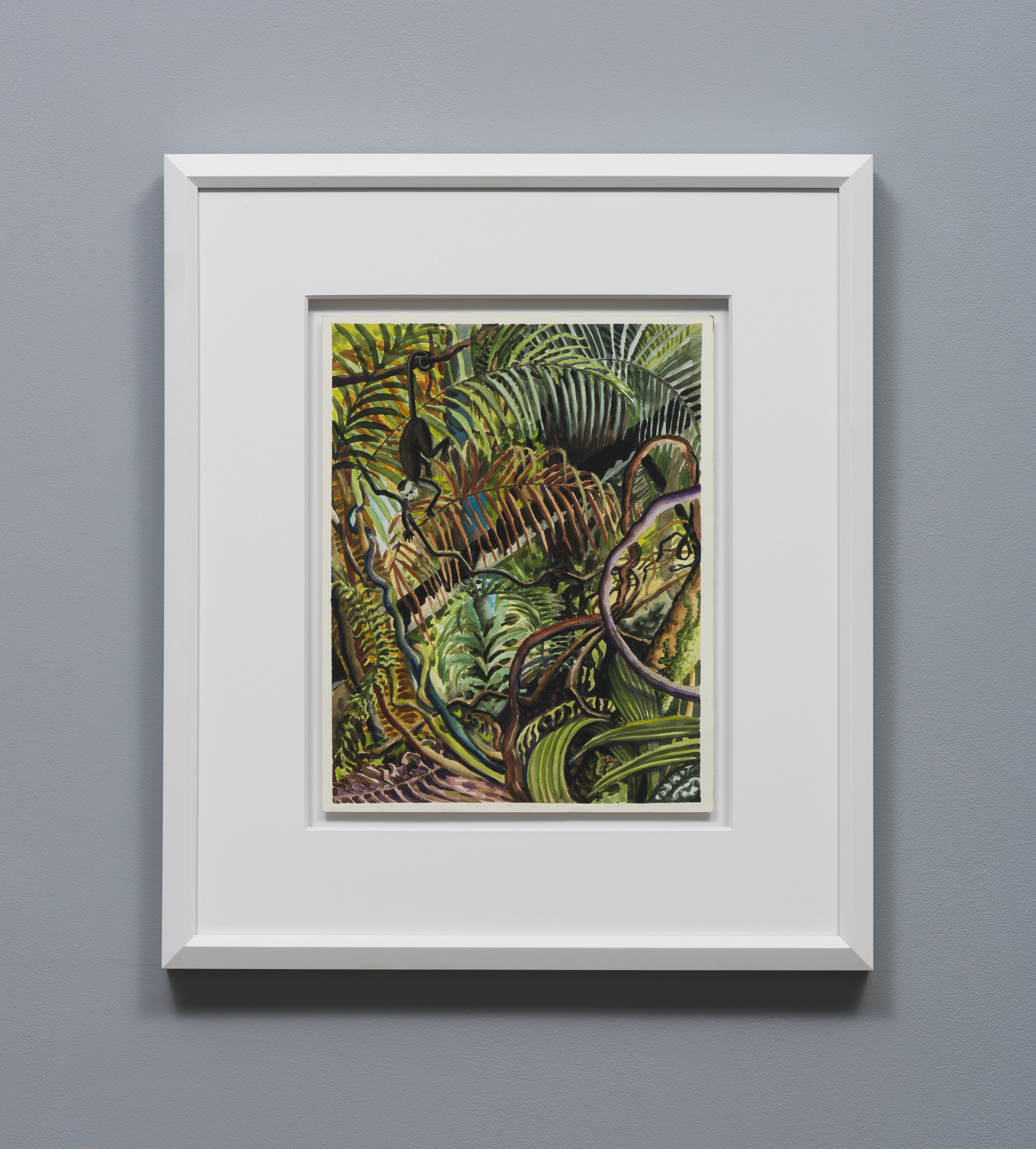 Suzan Pitt  Dense Jungle     1989 Watercolor on paper 14.75 x 11.5 inches, 24.5 x 21 inches framed
