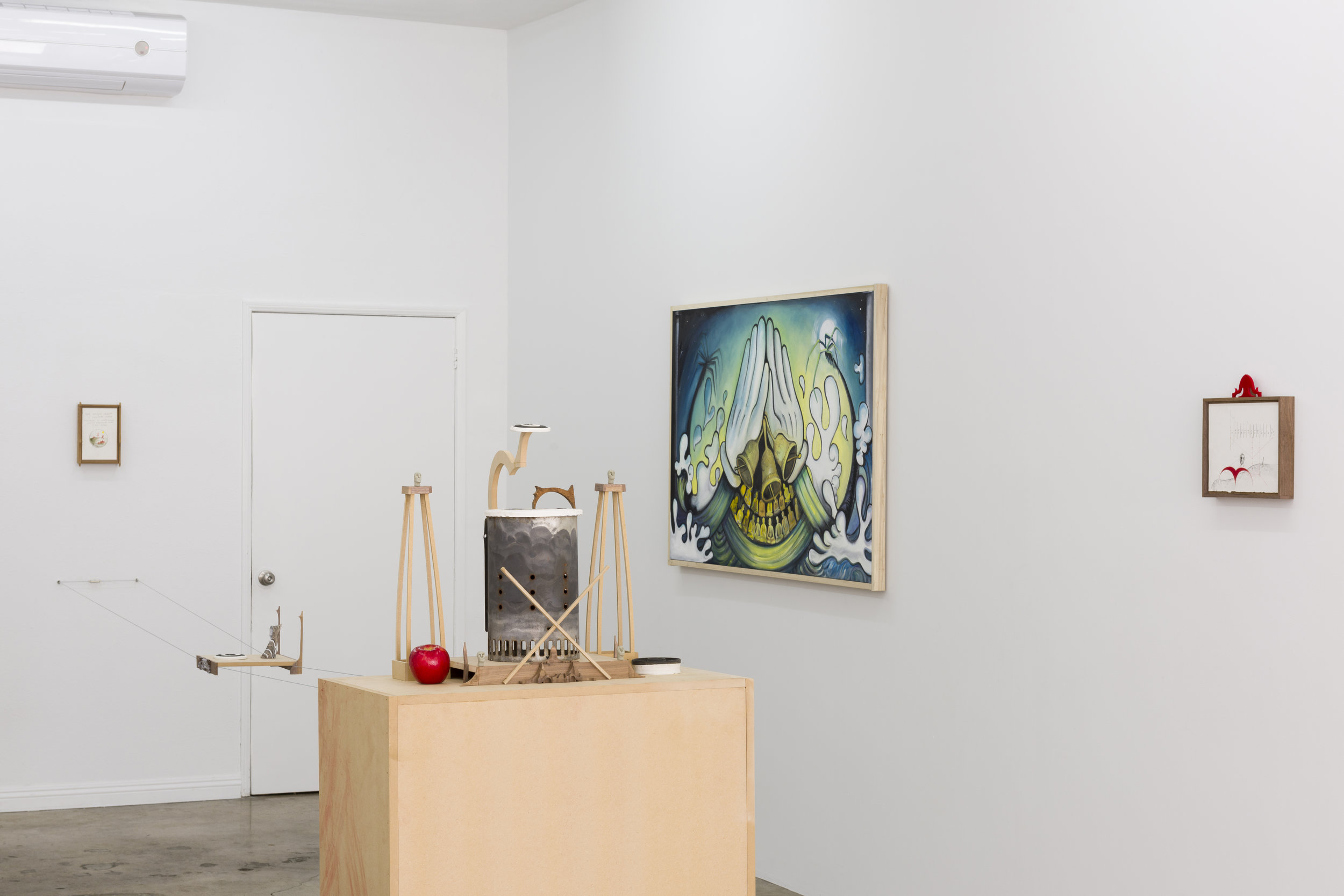 Installation view of  The Institute for Chaotic Love & Healing  R. Lord, Harry Gould Harvey IV, DJ Richard  May 19 - June 30, 2019  Photo by Ruben Diaz   Link to press release.