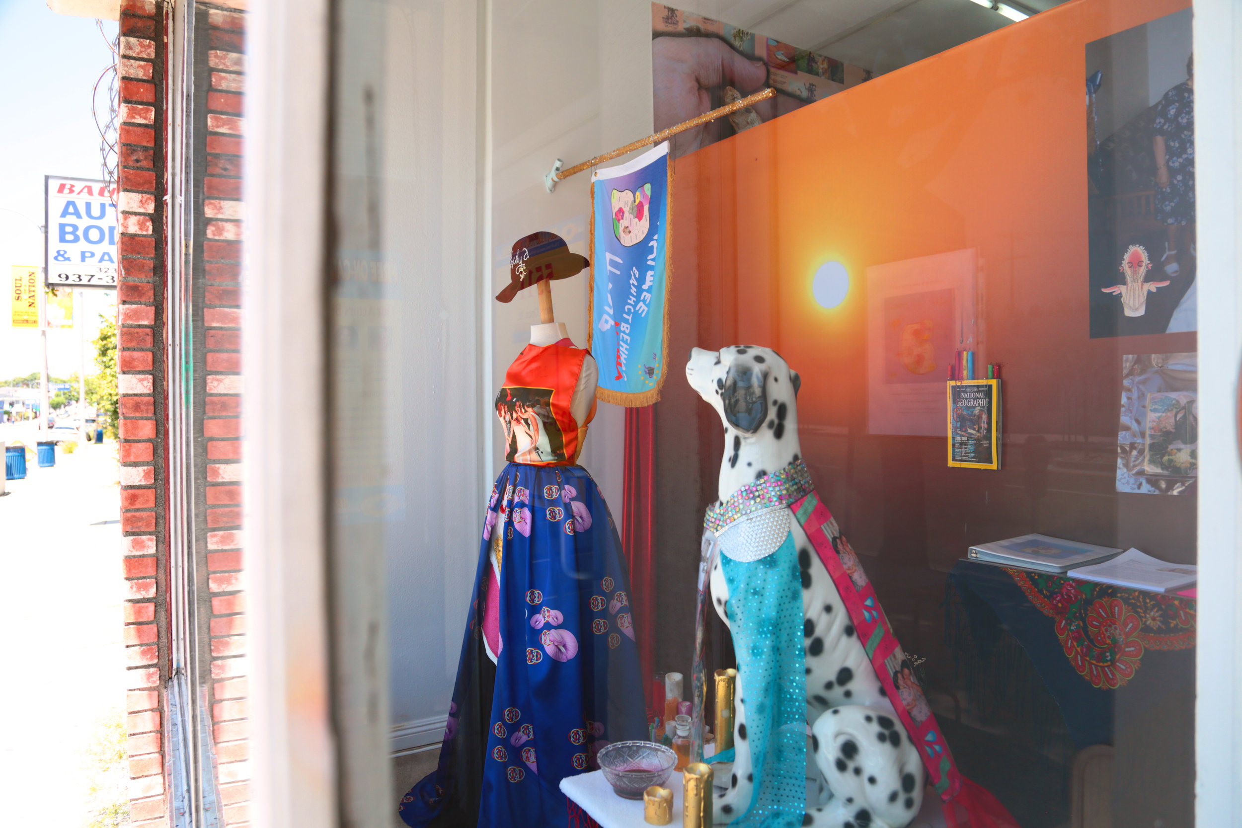 Installation view of  Molly Surazhsky   Mashacare Home of the Freaks, Misfits, & Weirdoes   July 14 - August 18, 2019   Link to press release.