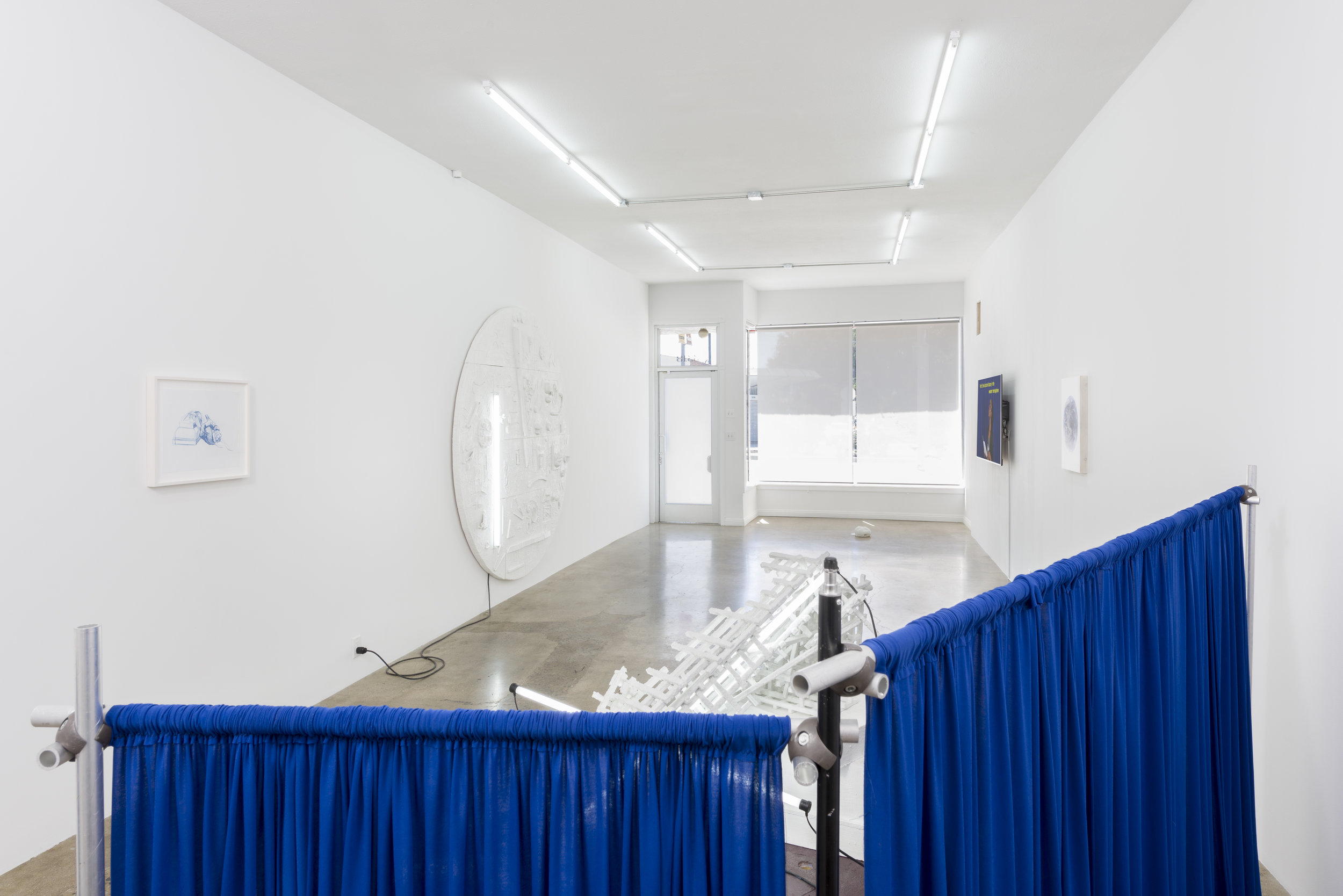 Installation view of Don Edler:  Two Minutes To Midnight   September 8 - October 27, 2019  Photo by Ruben Diaz   Link to press release.