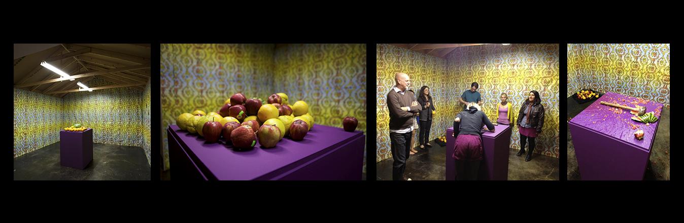 Fallen Fruit,  Fruit Meditation , 2012 performance