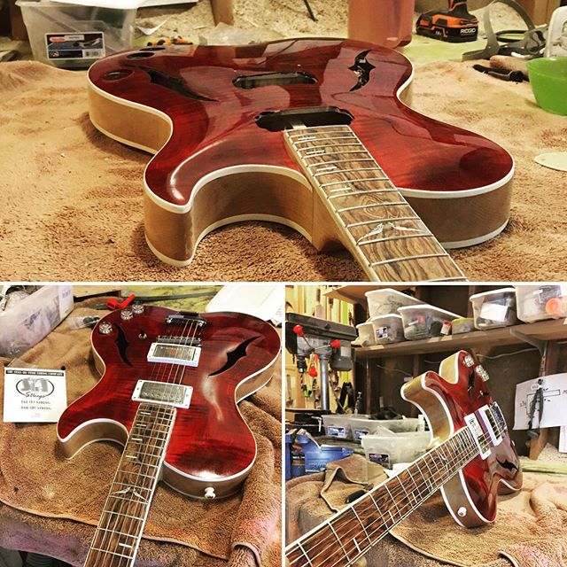 Last guitar (Stella) is done and we are on the road for Nashville!  #howieguitars, #kentarmstrong, #sitstrings, #escape, #nashvilleguitarshow.