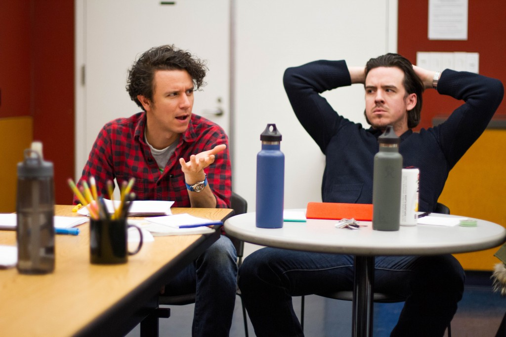 Aaron Rossini and Craig Wesley Divino in rehearsal.