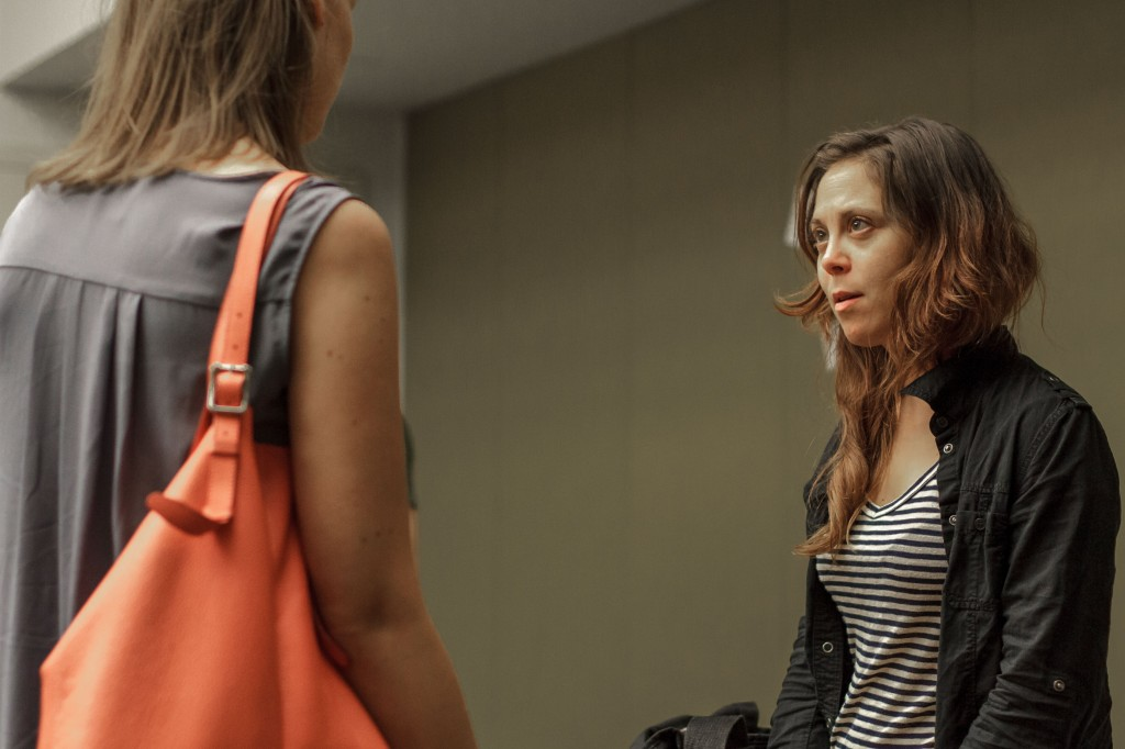 Molly Thomas (left) and  Jenny Seastone  (right) chatting in our rehearsal room at ART NYC