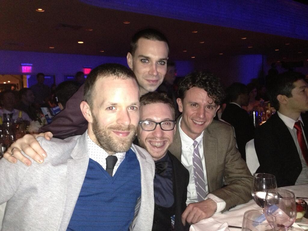 Jimmy King,  Karl Gregory ,  Michael Perlman , and  Aaron Rossini  at the GLAAD Media Awards