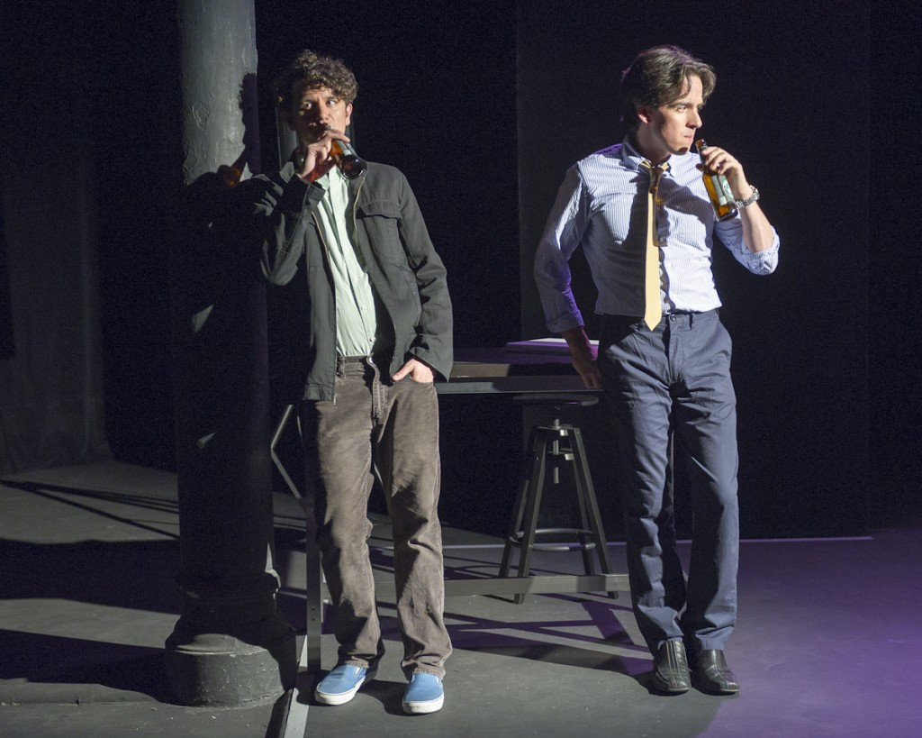 Aaron Rossini  and  Craig Wesley Divino  in From White Plains at La Tea Theater (photo by Jacob J. Goldberg)