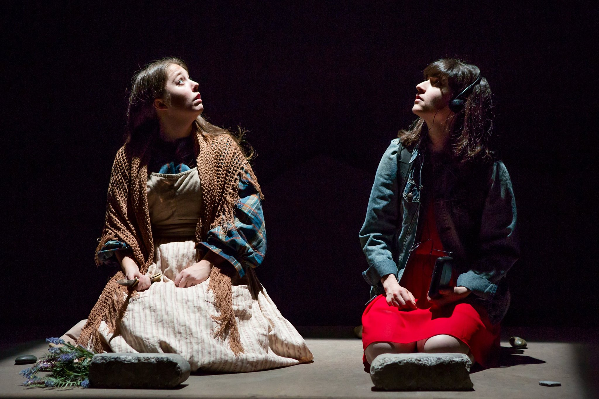 Emily Louise Perkins and Liba Vaynberg in  The Oregon Trail .Photo by Jeremy Daniel.