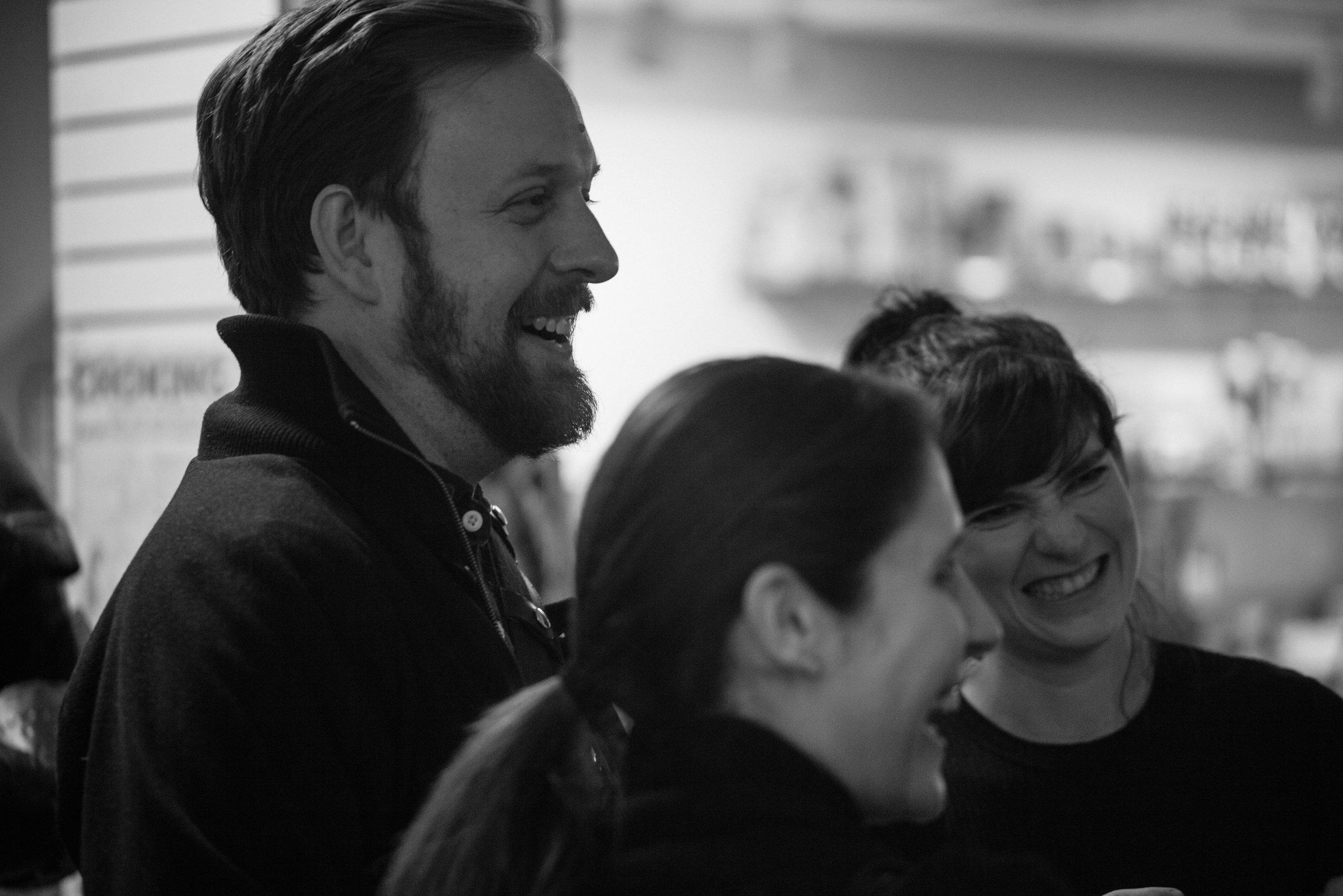Director Geordie Broadwater with playwright Liba Vaynberg.Photo by Katherine Oostman.