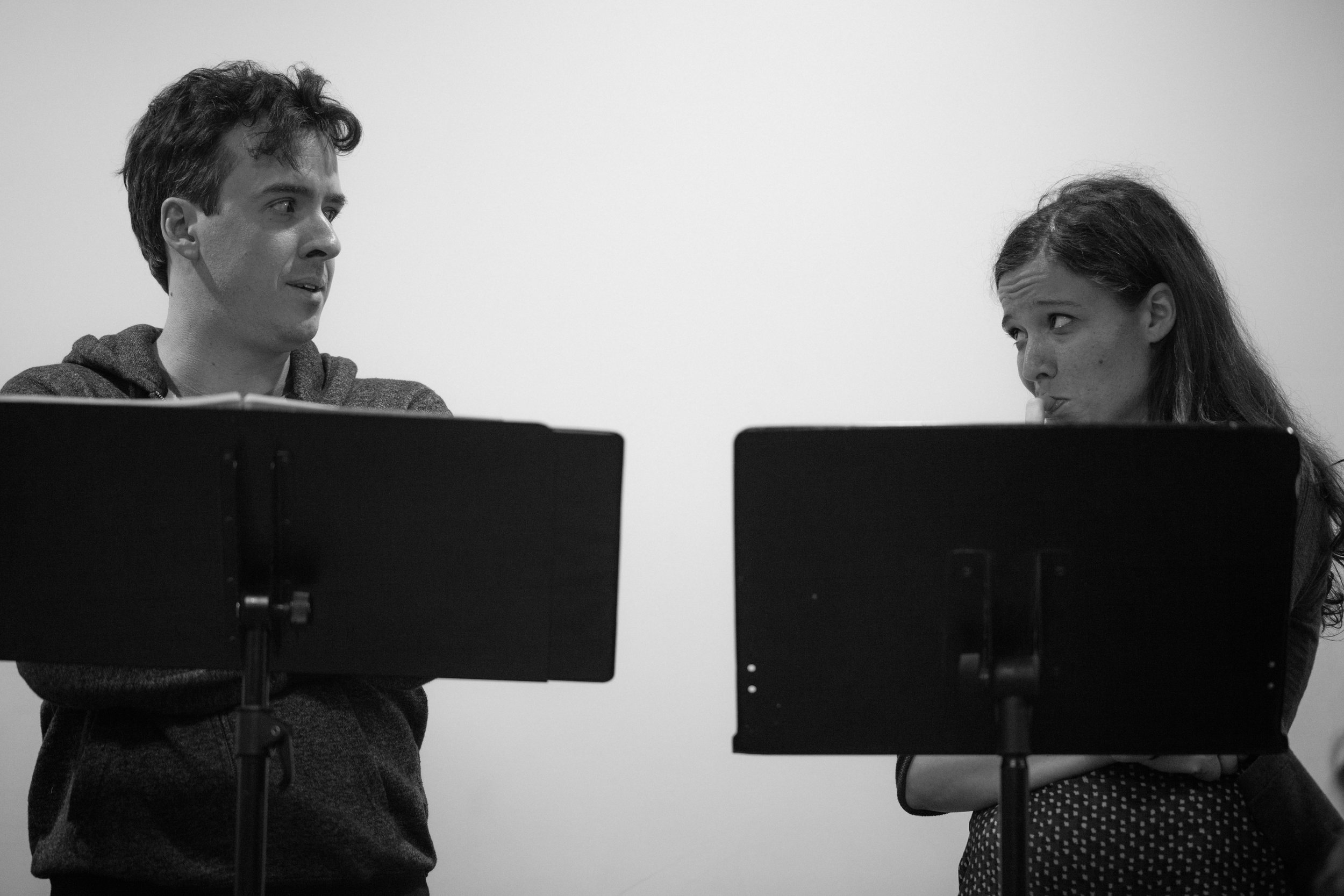 Co-Artistic Director and actor Craig Wesley Divino with actor Molly Carden.Photo by Katherine Oostman.