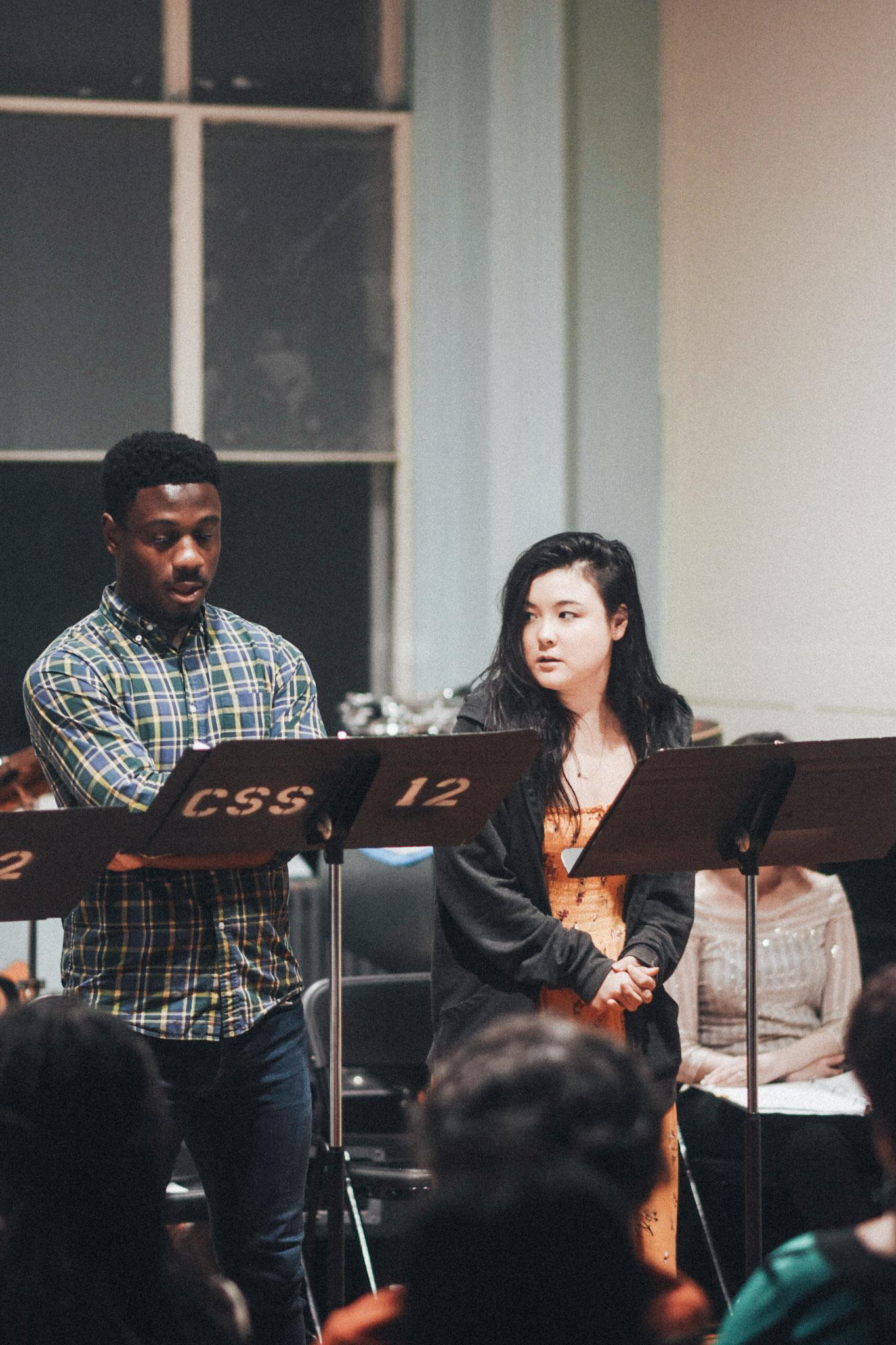 Marchánt Davis and Olivia Oguma // Photo by Kyle Studstill