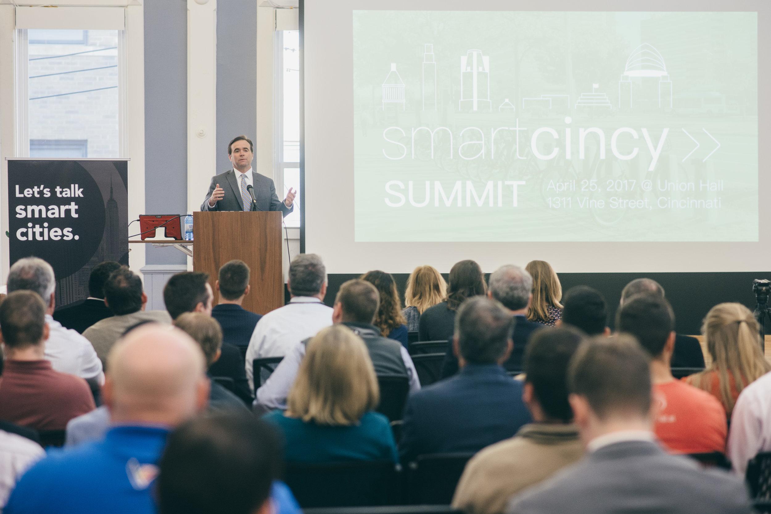Mayor Cranley at the Smart Cincy Summit April 2017