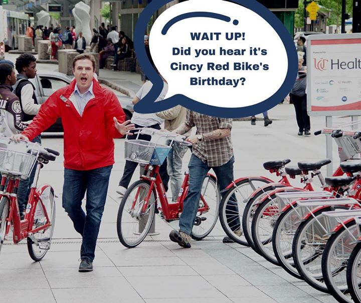 Happy Birthday Cincy Red Bike