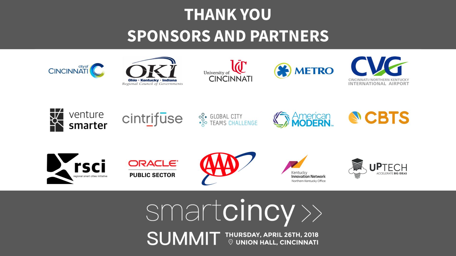 Sponsors and Partners - Smart Cincy