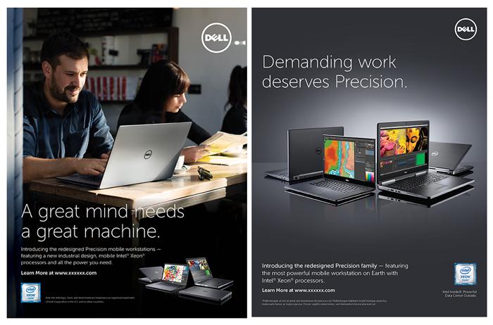 Print ads. Program: InDesign