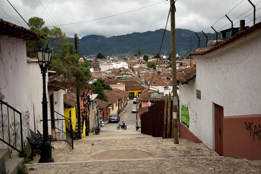 Para bajar de la parte más antigua de San Cristóbal de las Casas.