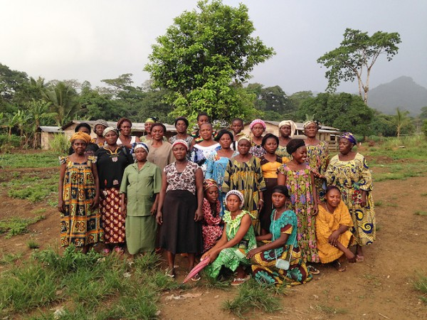 The elected female members of the Babubock Water Committee. Photo credit: Water Collective