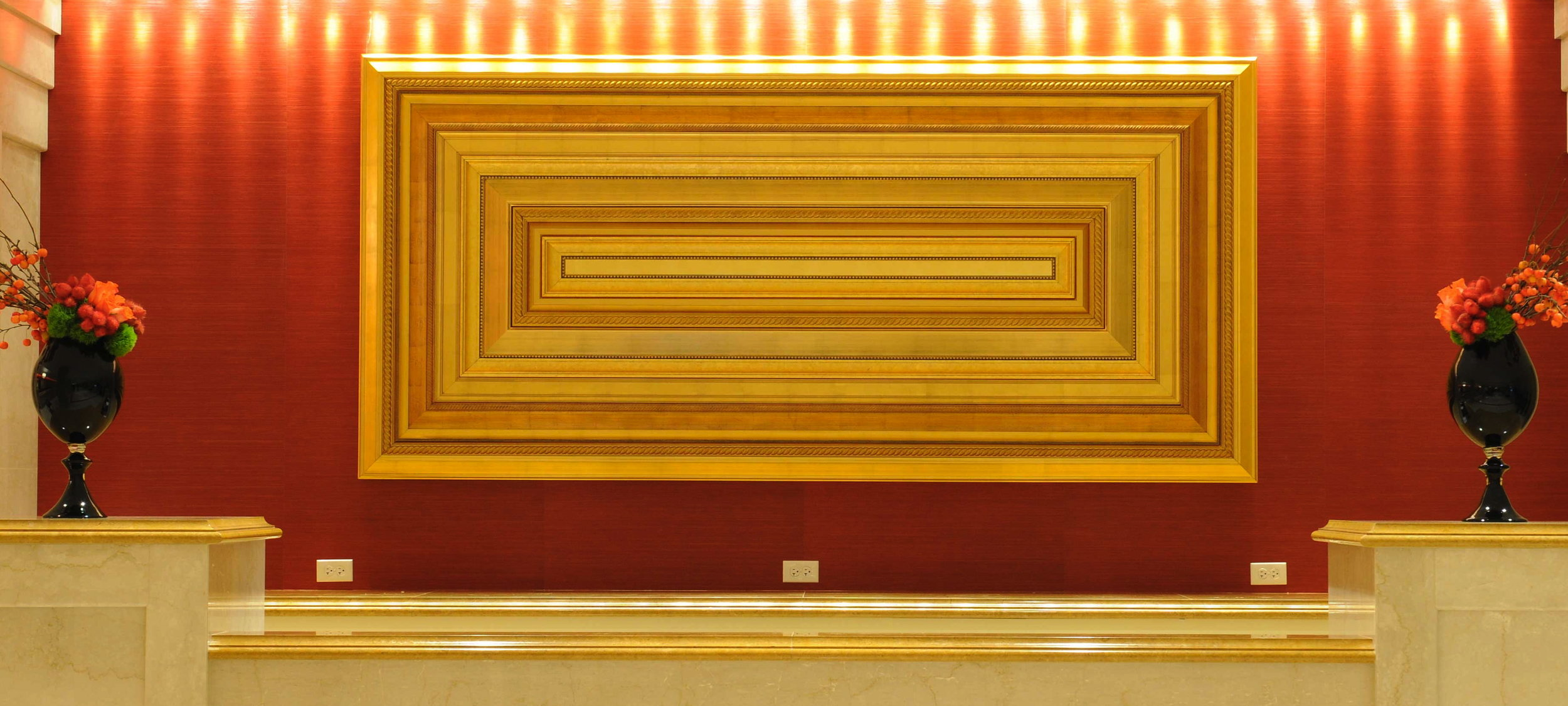 Novo Arts, 2010.  500-Pound Gold Moulding Sculpture. Design Direction, Project Management, and Production Management for JW Marriott Chicago.