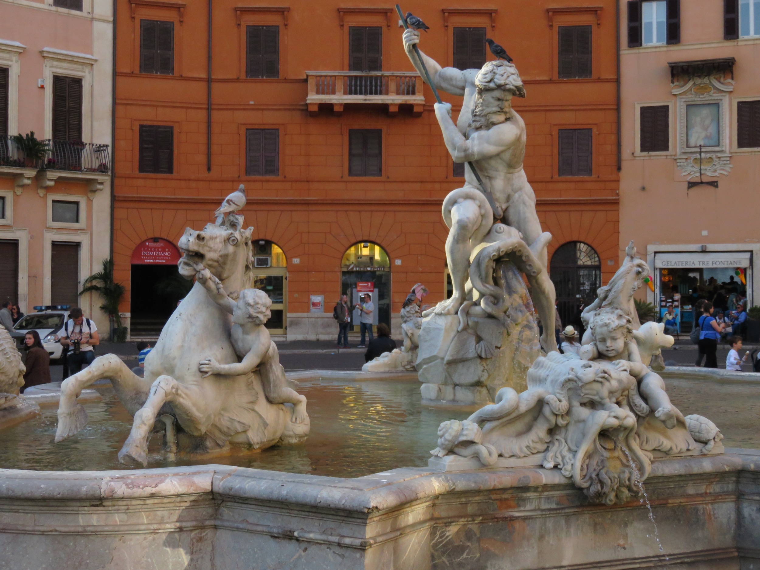 Nothing says Rome like the magnificent Bernini statues in the Piazza Navona. We bought scalped tickets to the Borghese Gallery to see more of the Master's work and the amazing Caravaggio collection.